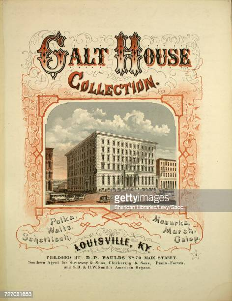 Sheet music cover image of the song 'Galt House Collection Schottisch' with original authorship notes reading 'Composed by Walter Owens' 1869 The...
