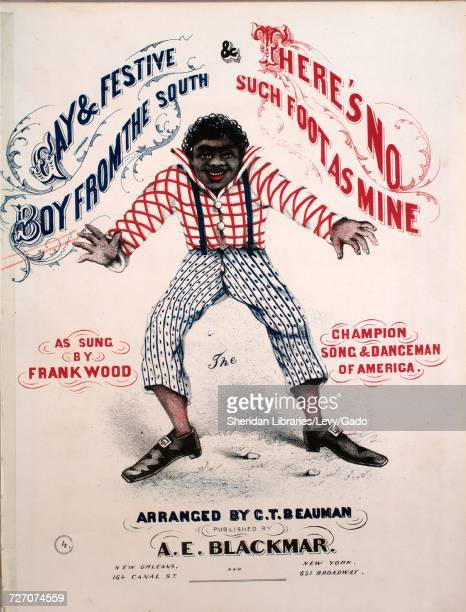 Sheet music cover image of the song 'Gay and Festive Boy From the South Song' with original authorship notes reading 'Arranged by CT Beauman' 1900...