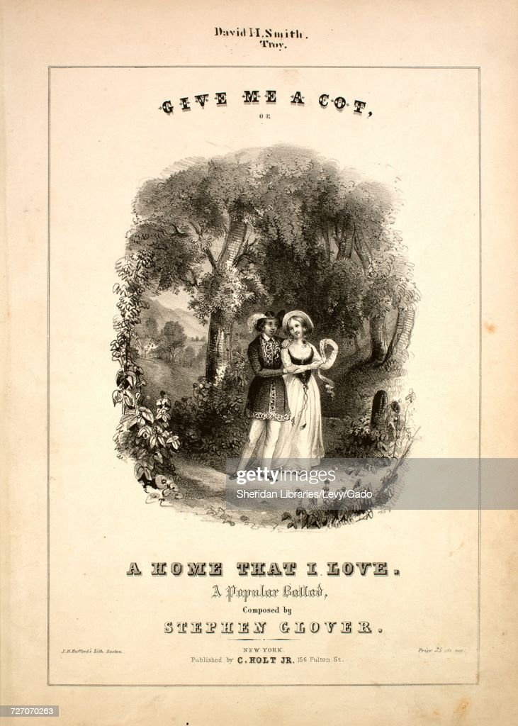 Sheet music cover image of the song 'Give Me a Cot, or, A