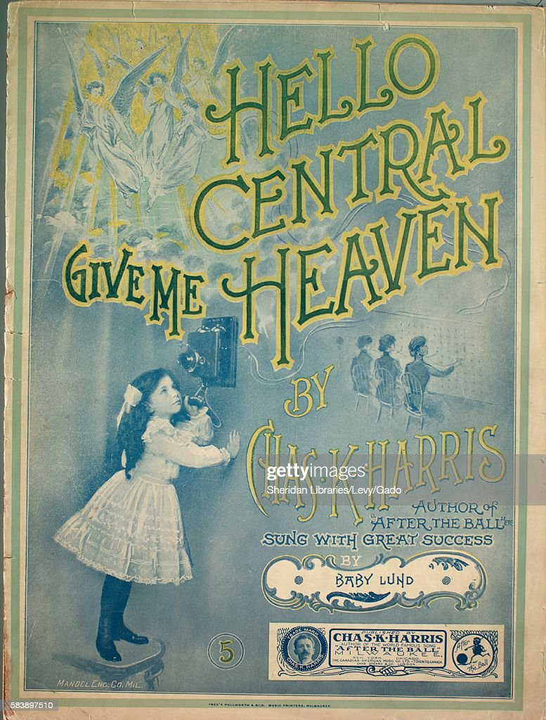 Sheet music cover image of the song 'Hello Central, Give Me