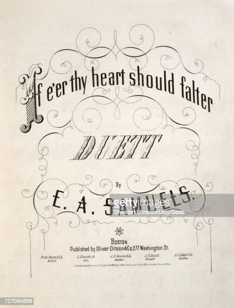 Sheet music cover image of the song 'If E'er Thy Heart Should Falter Duett' with original authorship notes reading 'By EA Samuels' United States 1862...