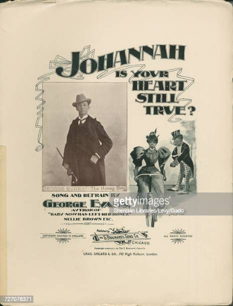 Sheet music cover image of the song 'Johannah Is Your Heart Still True' with original authorship notes reading 'song and Refrain by George Evans'...