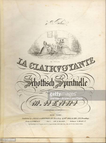 Sheet music cover image of the song 'La Clairvoyante Schottisch Spirituelle' with original authorship notes reading 'Composee par M Henri' United...