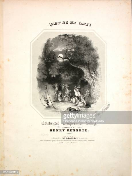 Sheet music cover image of the song 'Let Us Be Gay A Celebrated Temperance Song' with original authorship notes reading 'Composed by Henry Russell'...