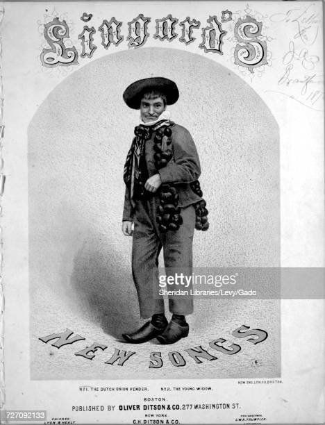 Sheet music cover image of the song 'Lingard's New Songs No1 The Dutch Onion Vender' with original authorship notes reading '' United States 1900 The...