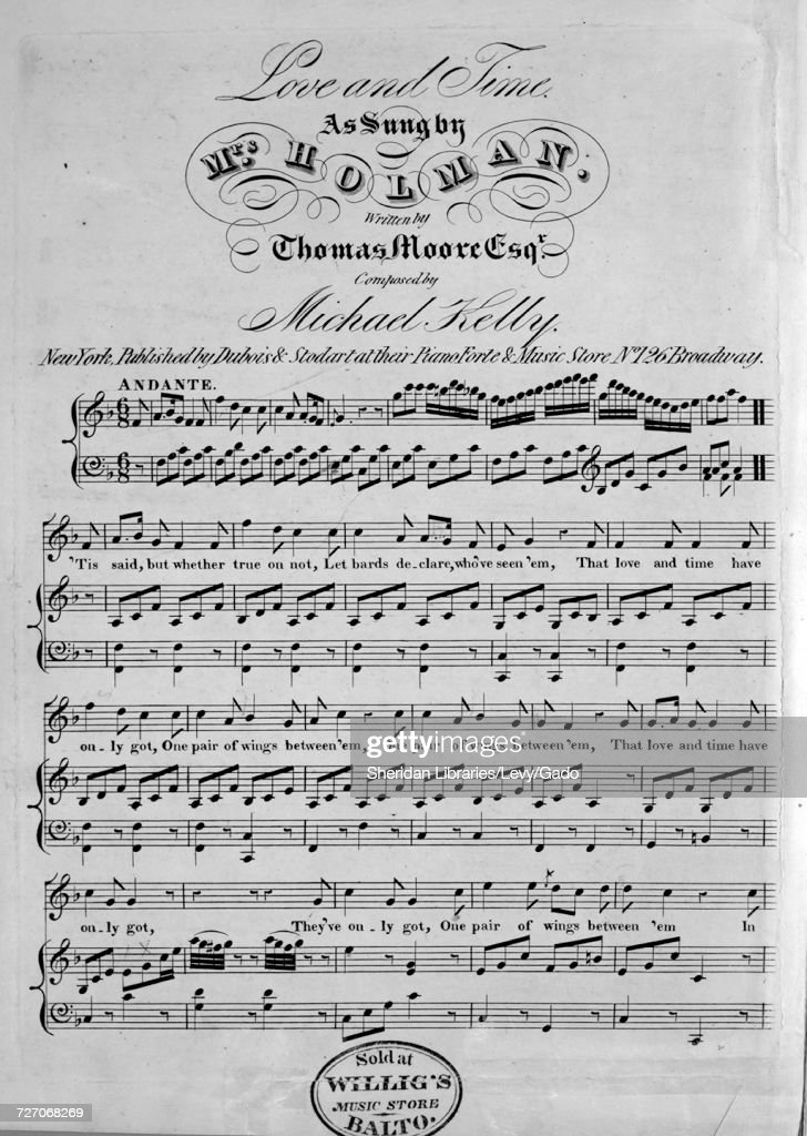 Sheet music cover image of the song 'Love and Time', with