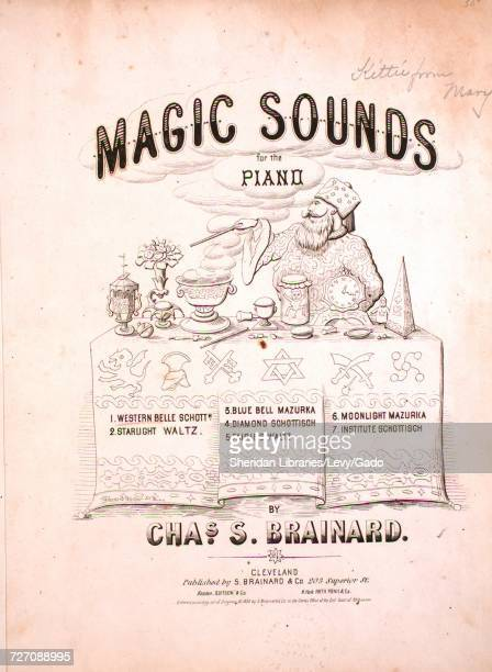 Sheet music cover image of the song 'magic Sounds for the Piano 1 Western Belle Schottisch' with original authorship notes reading 'by Chas S...