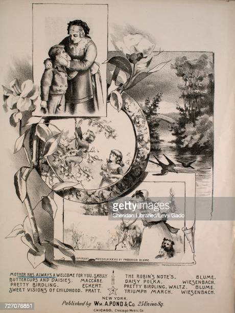 Sheet music cover image of the song 'mother Has Always A Welcome For You' with original authorship notes reading 'Words by George Cooper Music by JP...