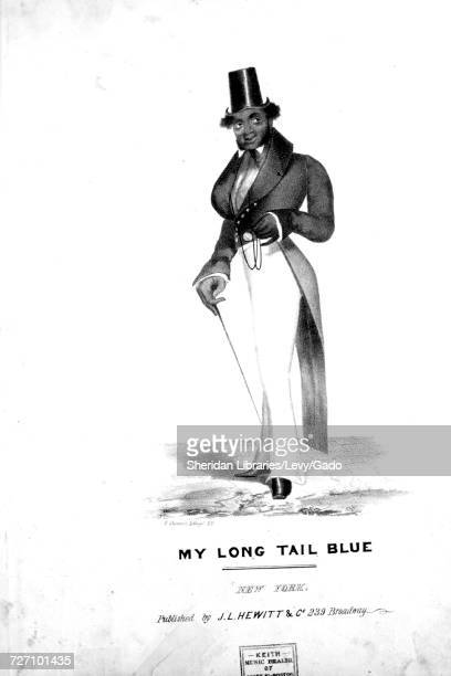 Sheet music cover image of the song 'my Long Tail Blue' with original authorship notes reading 'na' United States 1900 The publisher is listed as 'JL...