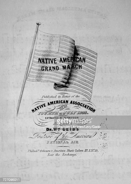 Sheet music cover image of the song 'Native American Grand