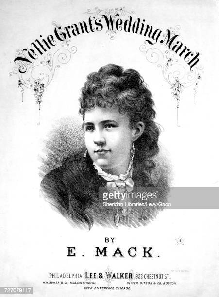 Sheet Music Cover Image Of The Song Nellie Grants Wedding March With Original Authorship