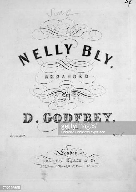 Sheet music cover image of the song 'Nelly Bly' with original authorship notes reading 'Written and Composed by Stephen C Foster Arranged by D...