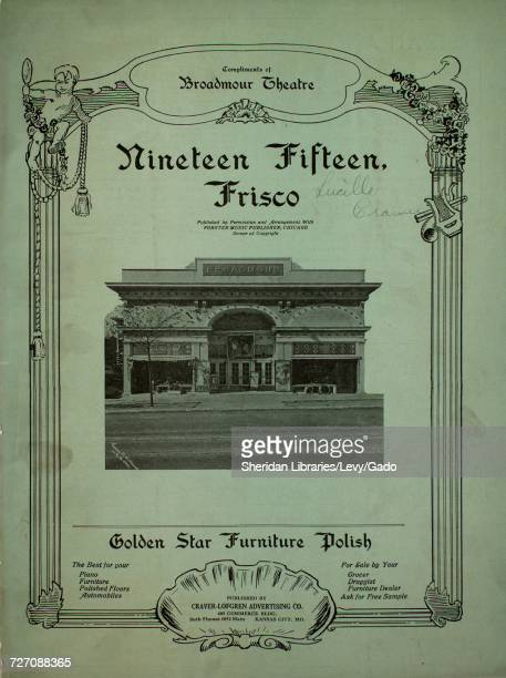 Sheet music cover image of the song 'Nineteen Fifteen Frisco' with original authorship notes reading 'Words by CP McDonald Music by Chas Miller' 1911...