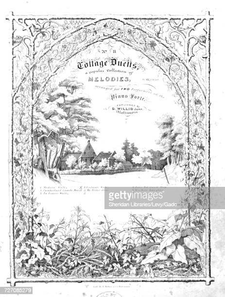 Sheet music cover image of the song 'No II Cottage Duetts a popular Collection of Melodies arranged for TWO Performers on the Piano Forte Gulnare...