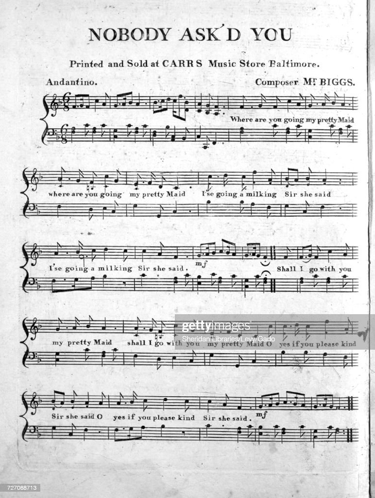 Sheet music cover image of the song 'Nobody Ask'd You', with