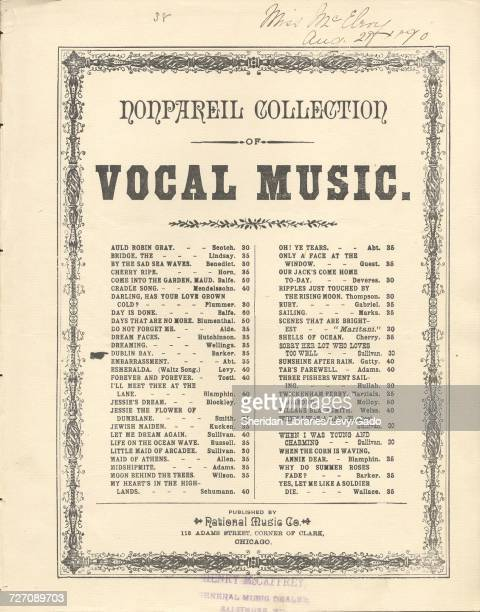 Sheet music cover image of the song 'Nonpareil Collection of Vocal Music Dublin Bay' with original authorship notes reading 'Words by Mrs Crawford...