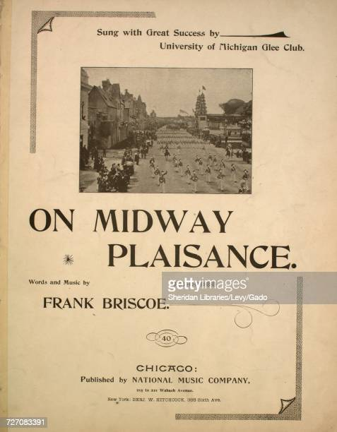 Sheet music cover image of the song 'On Midway Plaisance' with original authorship notes reading 'Words and Music by Frank Briscoe' United States...