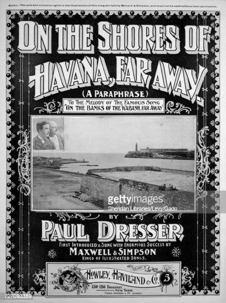 Sheet music cover image of the song 'On the Shores of Havana Far Away To the Melody of the Famous Song 'On the Banks of the Wabash Far Away'' with...
