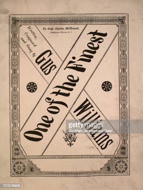 Sheet music cover image of the song 'One of the Finest' with original authorship notes reading 'Written Composed by Gus Williams Arr by JP Skelly'...