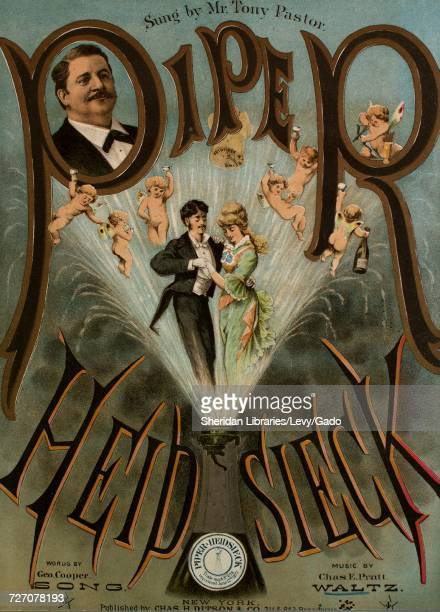 Sheet music cover image of the song 'Piper Heidsieck Waltz', with original authorship notes reading 'music by Chas E Pratt', United States, 1878. The...