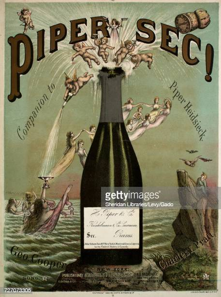 Sheet music cover image of the song 'Piper Sec! Companion to Piper Heidsieck', with original authorship notes reading 'music by Charles E Pratt',...