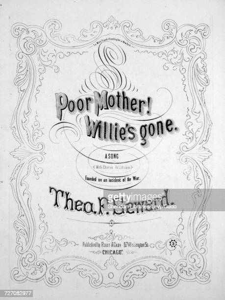 Sheet music cover image of the song 'Poor Mother! Willie's Gone A
