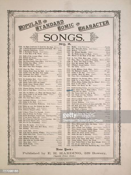 Sheet music cover image of the song 'Popular and Standard Comic and Character Songs No 2 No 1519 Since James Put on High Collars' with original...