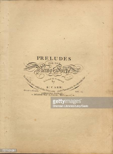 Sheet music cover image of the song 'Preludes for the Piano Forte to which are added the Diatonic and Chromatic Scale with the Fingering Marked' with...