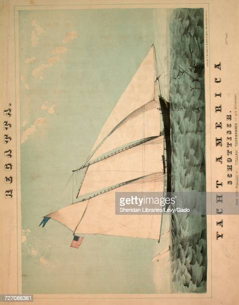 Sheet music cover image of the song 'Regatta Yacht America Schottisch' with original authorship notes reading 'Composed by Johann Munck' United...