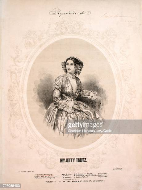 Sheet music cover image of the song 'Repertoire de Mlle Jetty Treffz No 1 Switser's Farewell' with original authorship notes reading 'Geo Linley'...