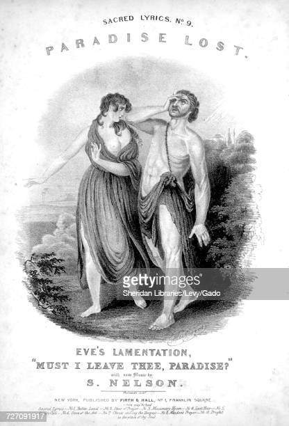 Sheet music cover image of the song 'sacred Lyrics No9 Paradise Lost Eve's Lamentation Must I Leave Thee Paradise' with original authorship notes...