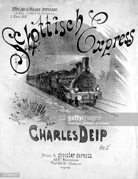 Sheet music cover image of the song 'schottisch Express' with original authorship notes reading 'Par Charles Deip' France 1892 The publisher is...
