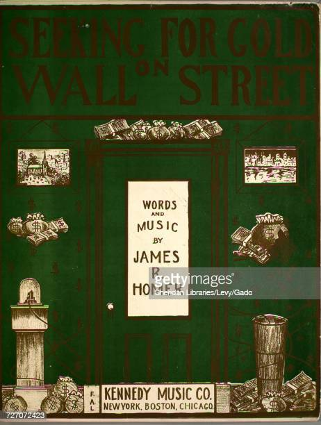 Sheet music cover image of the song 'seeking for Gold on Wall Street' with original authorship notes reading 'Words and Music by James R Homer'...