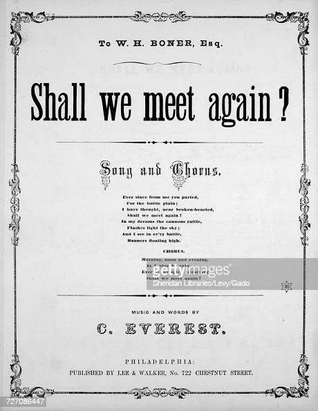 Sheet music cover image of the song 'shall We Meet Again? Song and