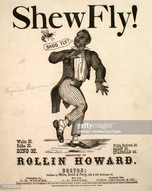 Sheet music cover image of the song 'shew Fly Galop' with original authorship notes reading 'George Thorne Arranged by Rollin Howard' United States...