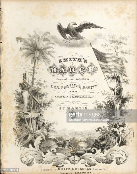 Sheet music cover image of the song 'smith's March' with original authorship notes reading 'Composed by TJ Martin' United States 1848 The publisher...