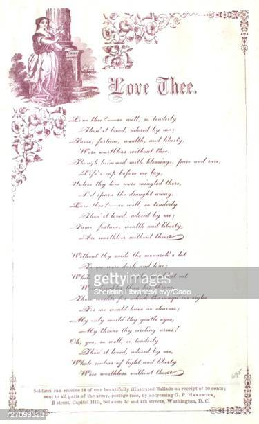 Sheet music cover image of the song 'song Sheet Love Thee' with original authorship notes reading 'na' 1900 The publisher is listed as 'GP Hardwick B...