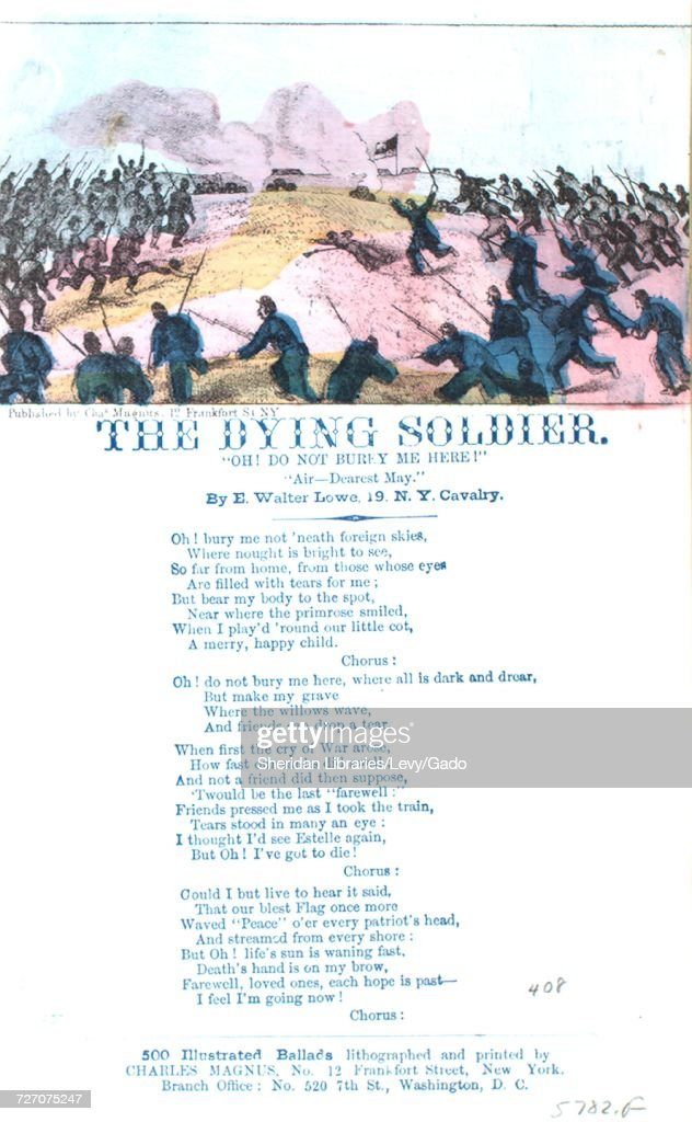 Sheet music cover image of the song 'song Sheet The Dying Soldier Do