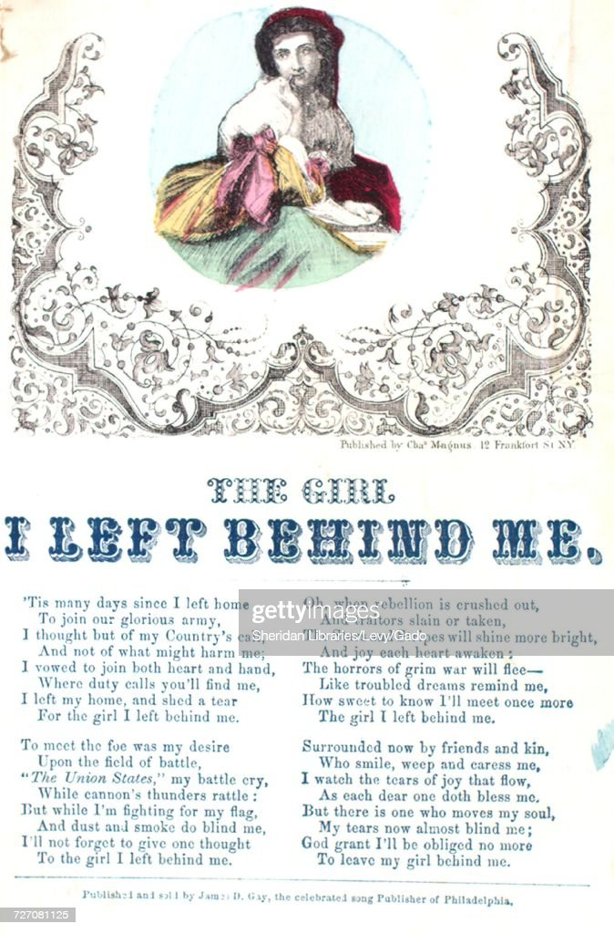 Sheet Music Cover Image Of The Song Song Sheet The Girl I Left