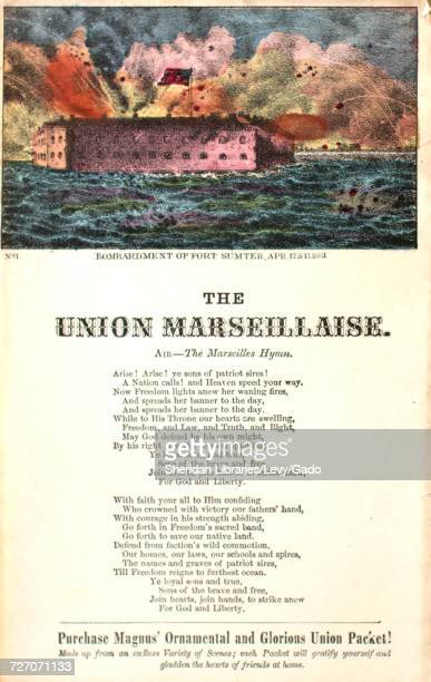 Sheet music cover image of the song 'song Sheet The Union Marseillaise' with original authorship notes reading 'Air The Marseilles Hymn' United...