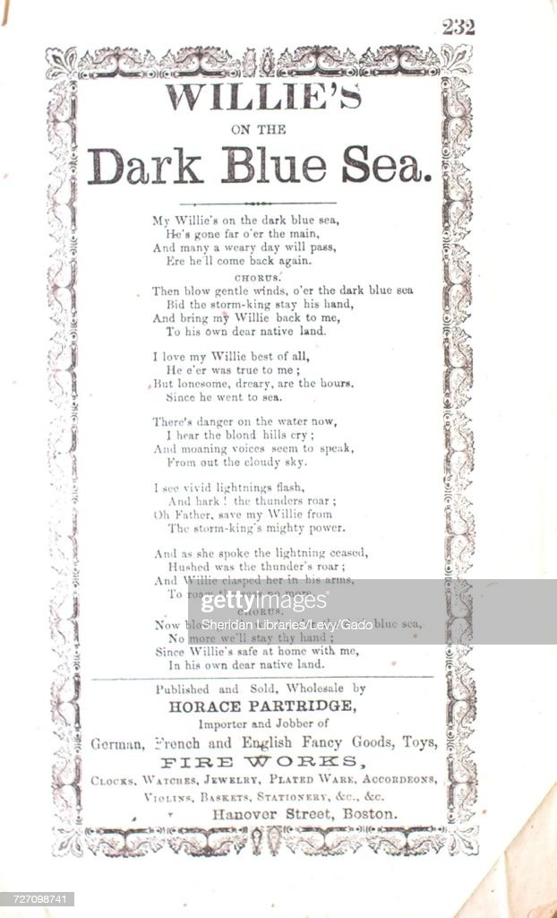 Sheet music cover image of the song 'song Sheet Willie's on the Dark