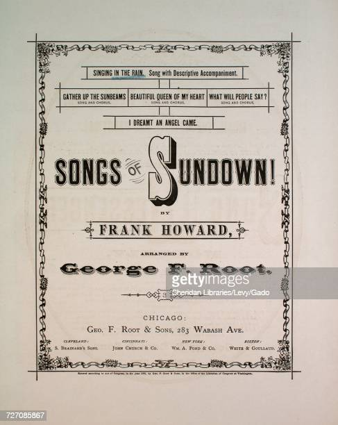 Sheet music cover image of the song 'songs of Sundown Singing in the Rain Song With Descriptive Accompaniment' with original authorship notes reading...