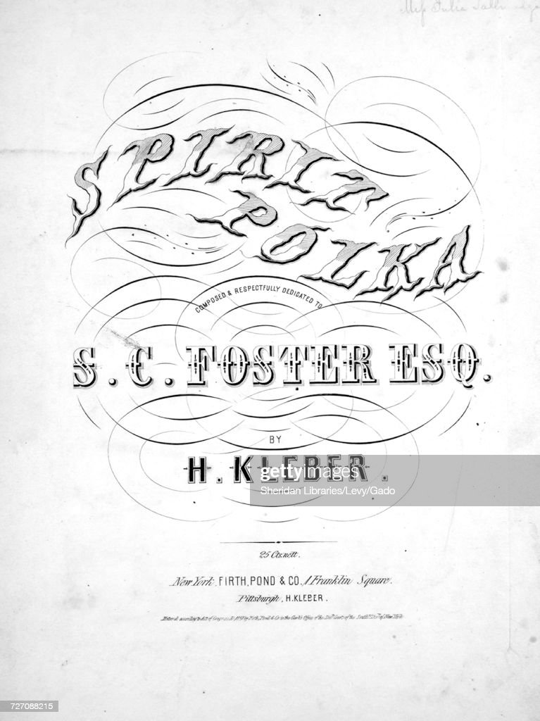 Sheet music cover image of the song 'spirit Polka', with