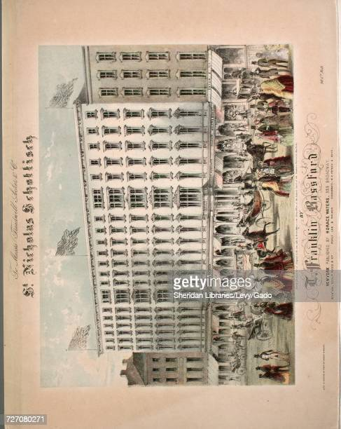 Sheet music cover image of the song 'st Nicholas Schottisch' with original authorship notes reading 'By T Franklin Bassford' United States 1853 The...
