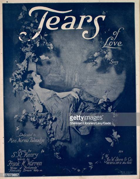 Sheet music cover image of the song 'tears of Love Song' with original authorship notes reading 'music by SR Henry Words by Frank H Warren' United...