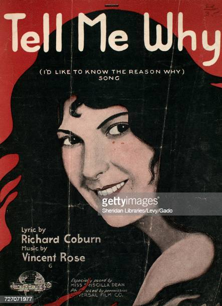 Sheet music cover image of the song 'tell Me Why ' with original authorship notes reading 'Lyric by Richard Coburn Music by Vincent Rose' United...