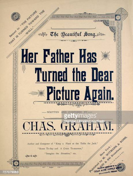 Sheet music cover image of the song 'the Beautiful Song Her Father Has Turned the Dear Picture Again Sequel to 'The Picture That is Turned Toward the...