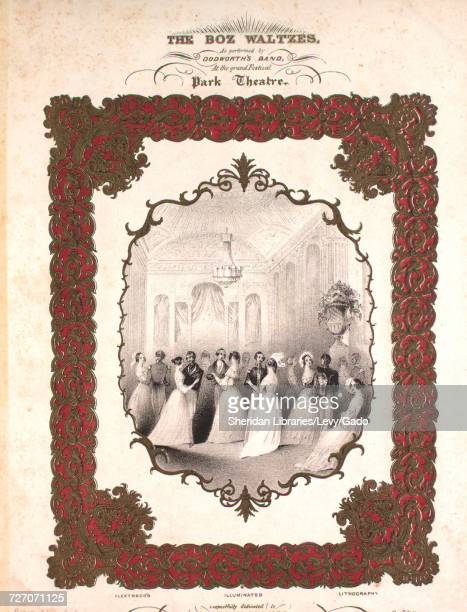 Sheet music cover image of the song 'the Boz Waltzes Master Humphrey; Little Nell; Samival Veller, Sr; Dick Swiveler; Nicholas Nickerby ; Newman...
