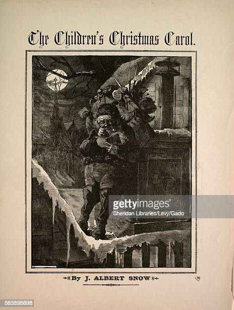 Sheet music cover image of the song 'The Children's Christmas Carol' with original authorship notes reading 'Words by Geo Russell Jackson Music By J...