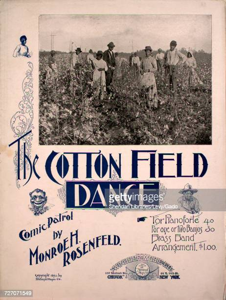 Sheet music cover image of the song 'the Cotton Field Dance Comic Patrol' with original authorship notes reading 'by Monroe H Rosenfield' United...